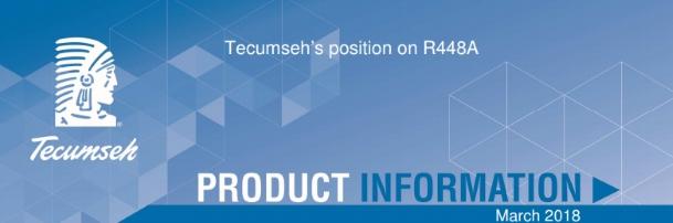 Tecumseh hladagent R448A